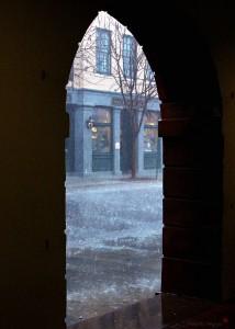 Charleston Market Rain Storm